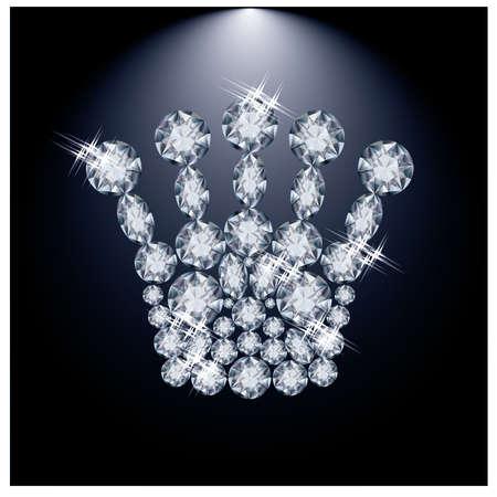 miss: Diamond Queen crown illustration