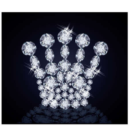 Brilliant Queen crown illustration