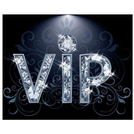 Brilliant VIP kaart, vector illustratie