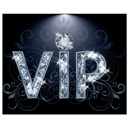 Brilliant VIP card, vector illustration