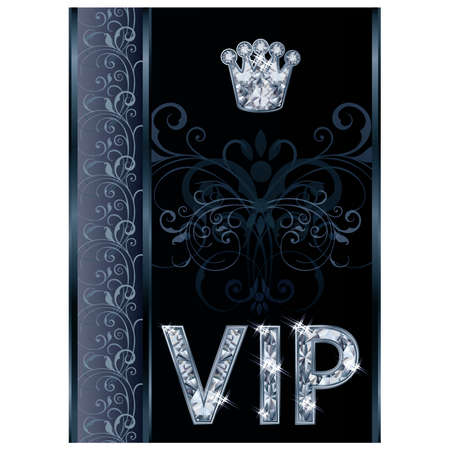 Diamond VIP invitation card , vector illustration Vector