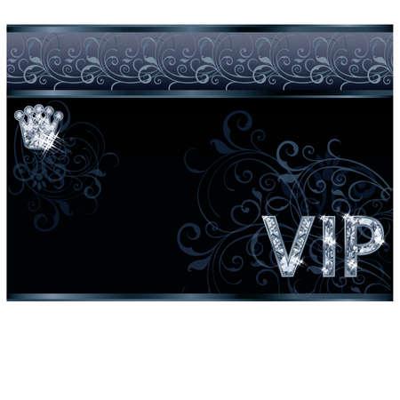 Diamond VIP greeting card , vector illustration Vector