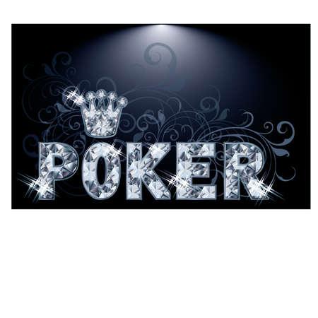 Diamond poker greeting card, vector illustration Vector