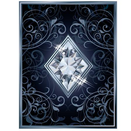 brilliant: Poker diamonds brilliant card, vector illustration Illustration