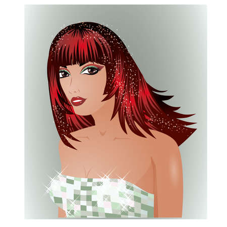 marital: Beautiful young bride, vector illustration Illustration