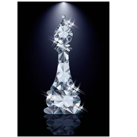 bishop: Diamond chess Bishop, vector illustration