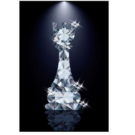 tactic: Diamond chess Rook, vector illustration