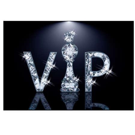 pawn shop: Diamond VIP chess card , vector illustration Illustration