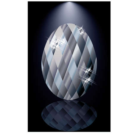 zircon: Diamonds Easter egg card, vector illustration