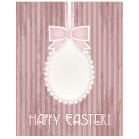 pascua: Happy Easter greeting card, vector illustration