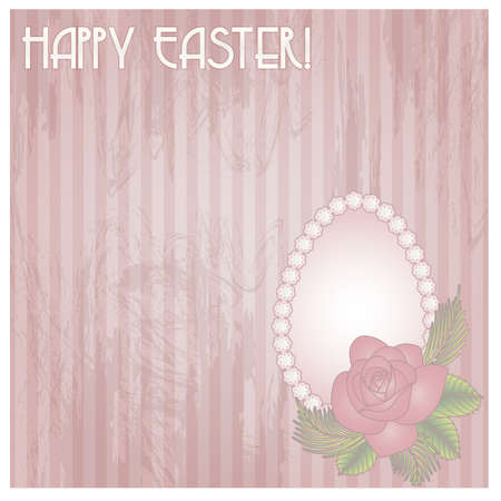 Happy Easter gift card, vector illustration