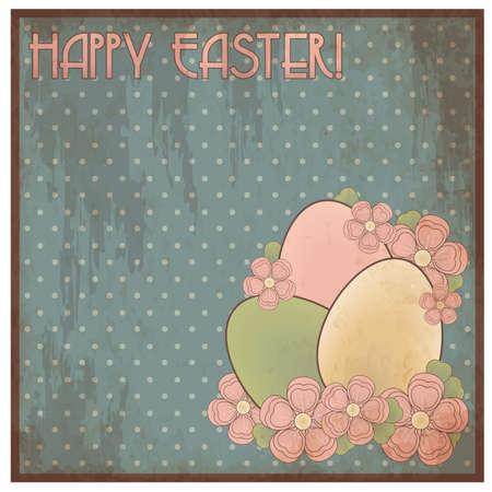 pascua: Happy Easter invitation post card illustration