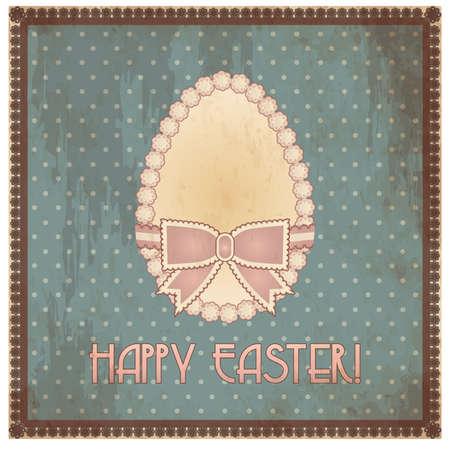 Happy Easter vintage egg, vector illustration Illustration