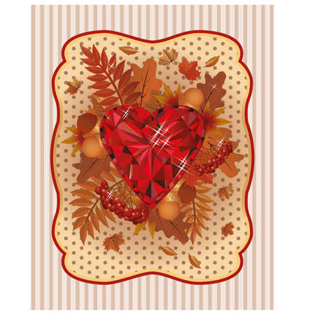 scrapping: Autumn scrapping paper in vintage style