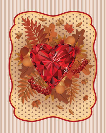 scrapping: Autumn scrapping card vintage style