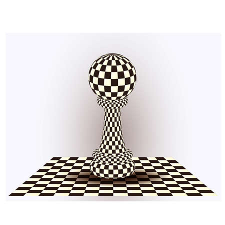 blanch: Chess Pawn. vector illustration