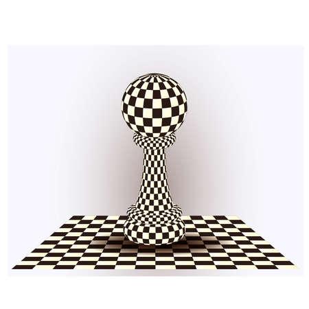 Chess Pawn. vector illustration