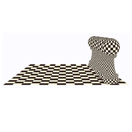 Abstract  background with a  chess pawn, vector illustration Ilustração