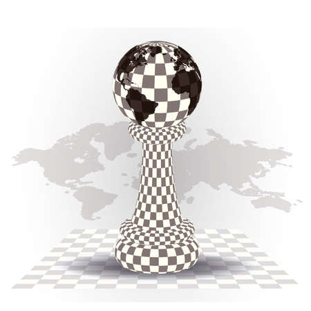 Background with a  chess pawn, vector illustration Ilustração