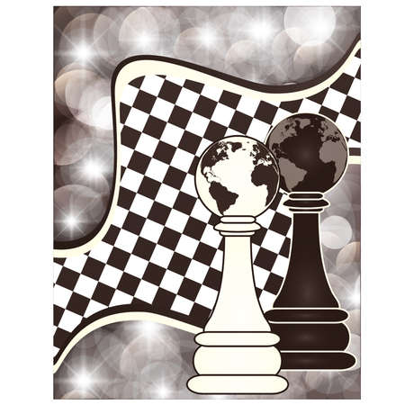 blanch: Chess abstract background, vector illustration Illustration