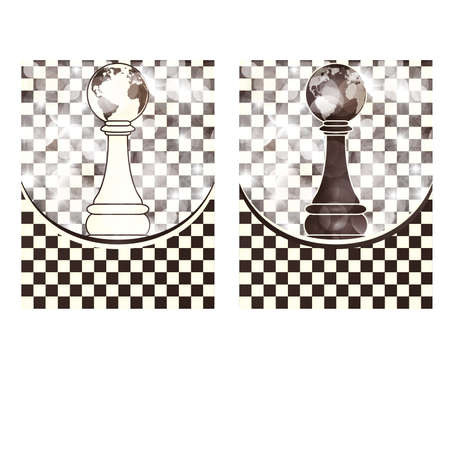 blanch: Set chess backgrounds, vector illustration