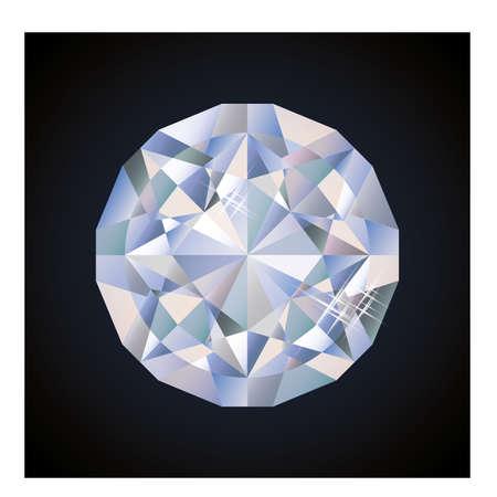 bright: Shiny bright diamond, vector illustration Illustration