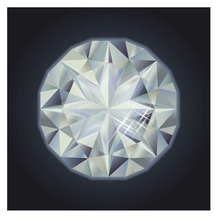 diamond clip art: Royalty precious diamond, vector illustration