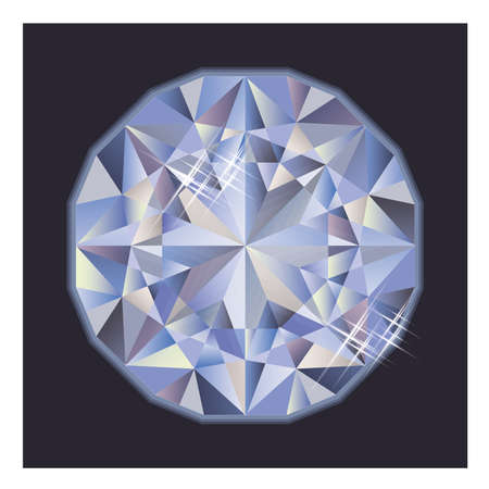 brilliant: Shiny brilliant diamond, vector illustration Illustration