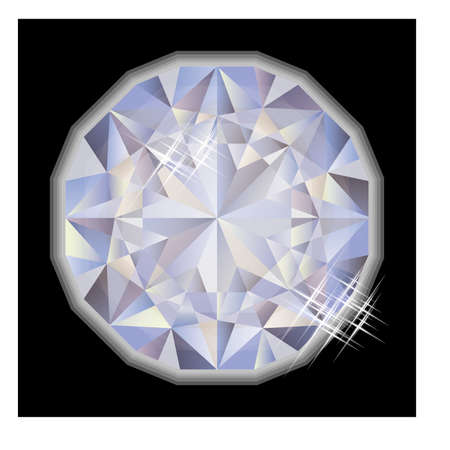 gemstone: Fashion Diamond gemstone, vector illustration