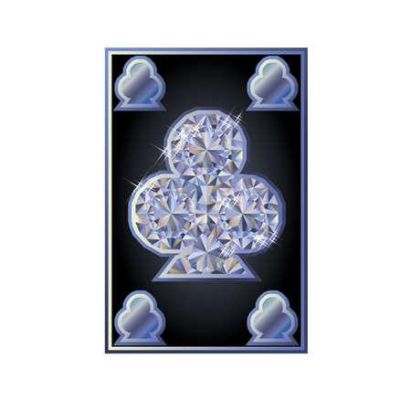 poker card: Diamond clubs poker card