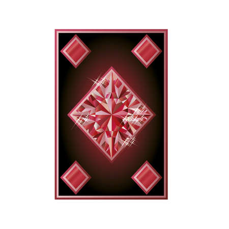 scrapping: Ruby diamonds poker card