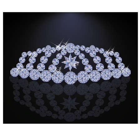 diadem: Elegant diamond princess diadem