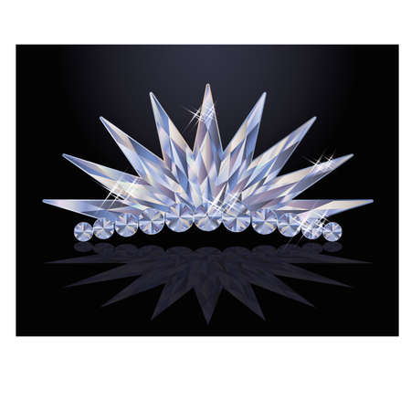 diadem: Pretty diamond princess diadem Illustration