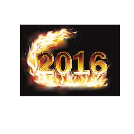 fiery: Fiery New 2016 Year  background