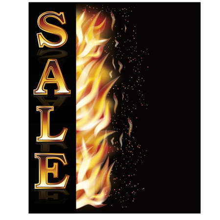 fire flame: Fire flame hot sale banner Illustration
