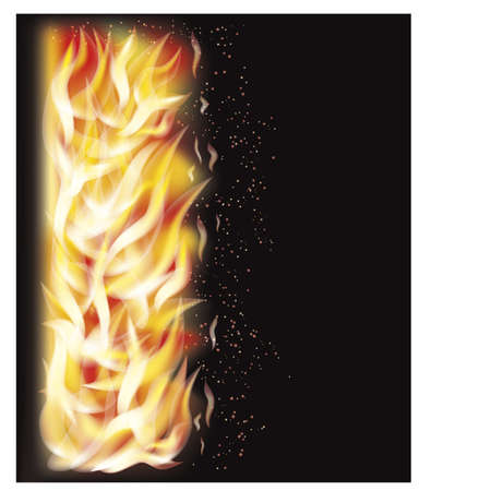 flamed: Fire flame background Illustration