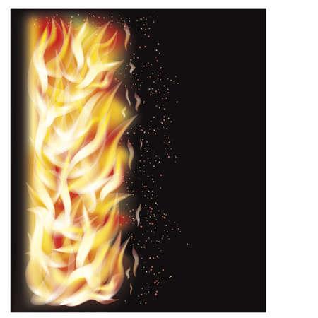 Fire flame background Illustration