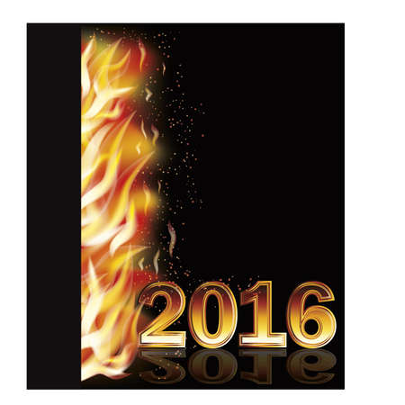 scrapping: Fire flame new 2016 year banner