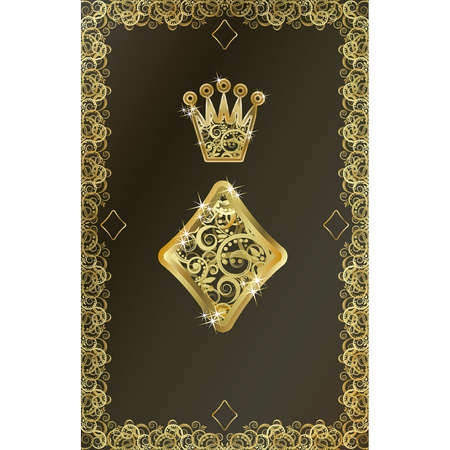poker card: Poker playing card Diamond symbol, vector illustration