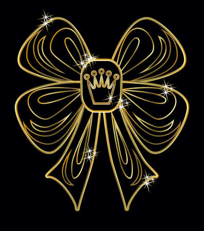 queen of clubs: VIP gold crown card, vector illustration