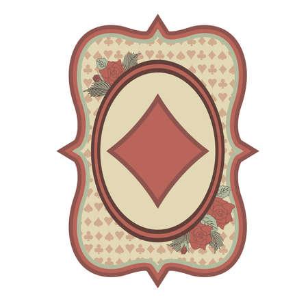 Vintage casino poker diamanten kaart, illustratie Stockfoto - 54779201