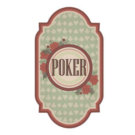 poker card: Vintage poker card, illustration
