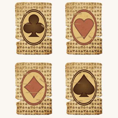 Stel casino pokerkaarten