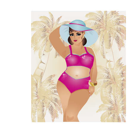 size: Plus size summer girl