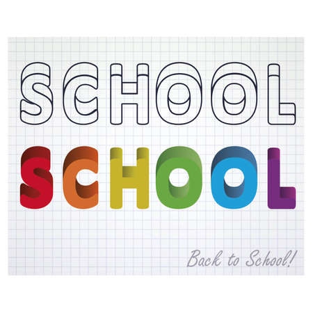 ruled paper: Back to school, notebook paper. vector illustration