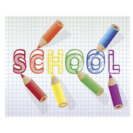 Back to school background multicolored pencils, vector illustration Illustration