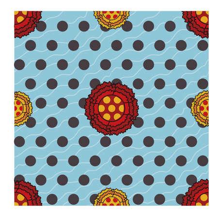 Flamenco naadloze patroon met bloemen, vector illustration Stock Illustratie
