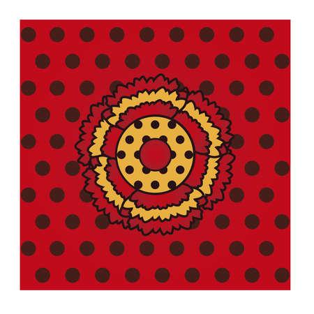 Flamenco seamless pattern, vector illustration