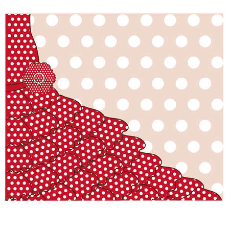 Greeting card in flamenco style, vector illustration