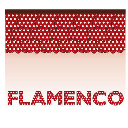 flor: Flamenco style card, vector illustration Illustration